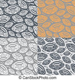 Seamless pattern rugby ball