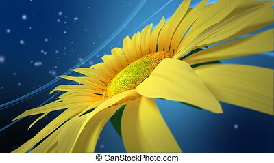 3D Sun Flower - Abstract motion background