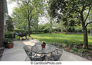 Patio in suburban home