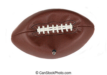 Deflated American Football - Closeup of an NFL American...