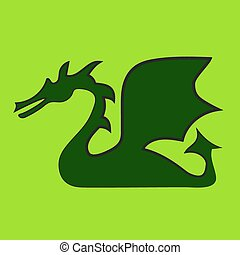 Green dragon - Illustration of green dragon is