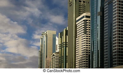 skyscrapers, Sheikh zayed road, Dub - Modern skyscrapers,...