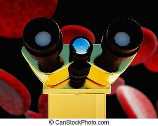 Bacteria cells close up