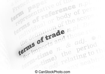 Terms of trade Dictionary Definition