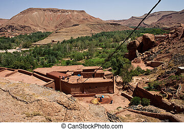 Village in Dades Gorge valley, Morocco
