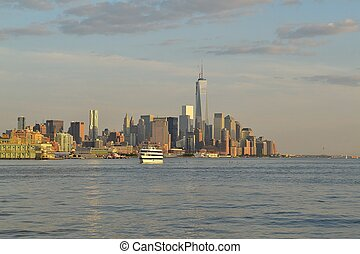 Cruising the Hudson - Picture taken from a Ferry in the...