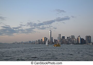 On the way to Manhattan - Picture taken from a ferry to...
