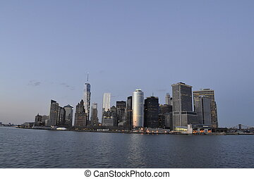 Manhattan from Staten Island - Picture taken from a ferry to...