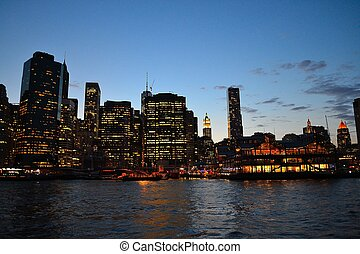 Sunset at the financial district - Photography of the...