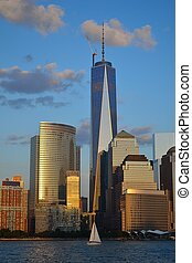 Freedom tower - Picture taken from a Ferry in the Hudson...