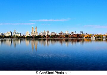 Fall in Central Park - Picture of the Upper West side from...
