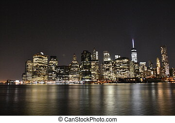NYC financial district from Brookly - Picture of the...
