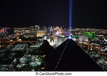 Las Vegas from the hight - Picture of Las Vegas at night...