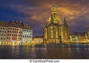 Dresden. - Image of Dresden, Germany at Neumarkt Square.