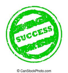 Used green success stamp - Used green success business...