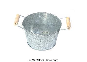 Bank galvanized flower bucket