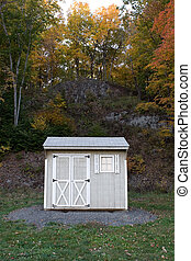 Tool Utility Shed - A tool shed in the back yard