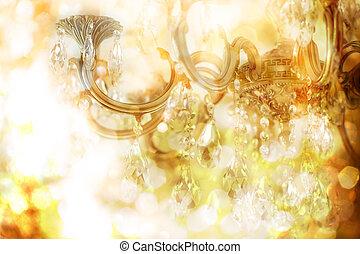 Chandelier - Vintage crystal chandelier details