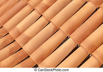 Tiled roof - Traditional tiled roof as a background, La...