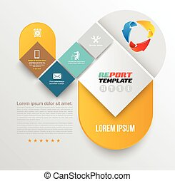 Vector brochure design template, flyer layout, magazine...
