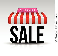 Clearance sale awning.