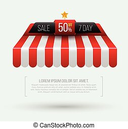 Awning Seven day sale banner