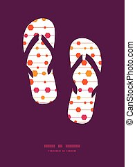 Vector abstract colorful stripes and shapes flip flops...