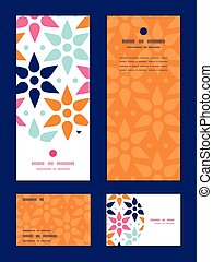 Vector abstract colorful stars vertical frame pattern...