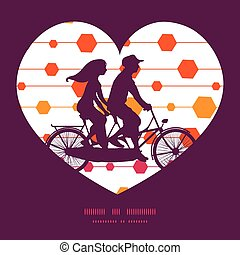 Vector abstract colorful stripes and shapes couple on tandem...