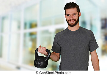 Man Working Out - Man working out while at the gym