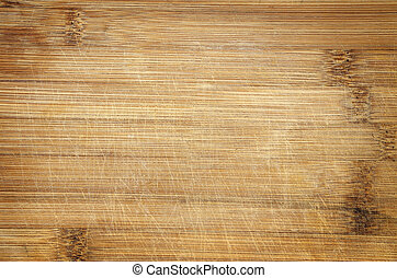 bamboo cutting board - used scratched bamboo wood cutting...