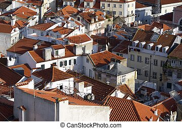 Alfama downtown in Lisbon, Portugal
