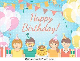 Kids Birthday Party Background