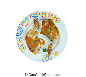 Ayam Goreng Kuning  -  chicken classic Indonesian dishes