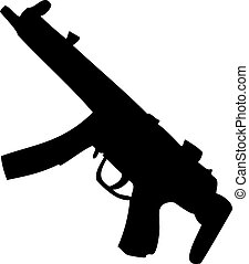 MP5 gun - This is a silhouette of an MP5.