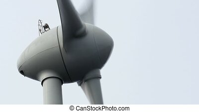 4K, Windmills, Wind Turbines, close - Wind Energy Power...