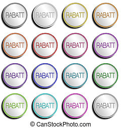 Button Minimal RABATT - Shiny metal Button with different...