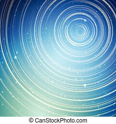 Long exposure star trails vector