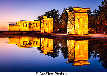 Temple Debod of Madrid - Madrid, Spain at the ancient...