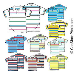 men stripe fashion polo clip art