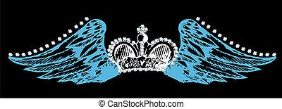 王冠, 飛行, 機翼