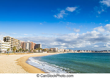 Costa Brava beach - Beach landscape of Calonge, Costa Brava...