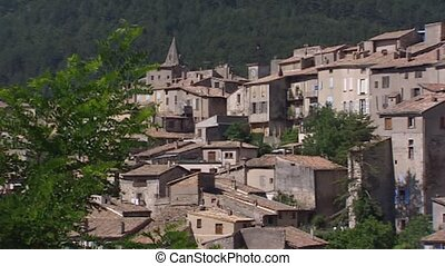 pan - City of Sisteron, France - full screen