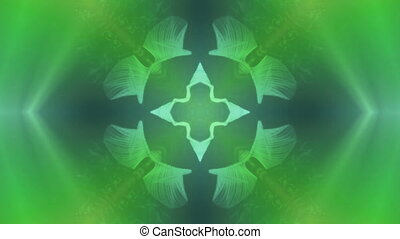 green kaleidoscope background - kaleidoscope effect...