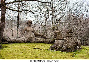 Echidna And The Lions Sacred Wood Bomarzo Italy - Mythical...
