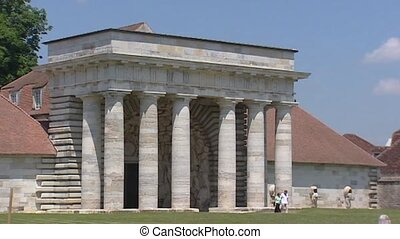 ARC-ET-SENANS Royal Saltworks entrance building with doric...