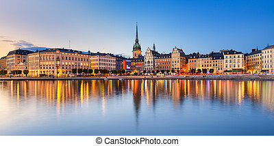 Gamla Stan in Stockholm, Sweden - Gamla Stan (old town) at...