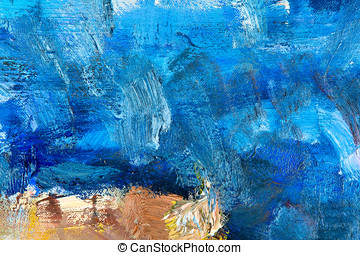 abstract painting fragment - fragment of my painting. Oil on...