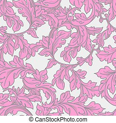 Baroque floral pattern. - Classic baroque floral seamless...