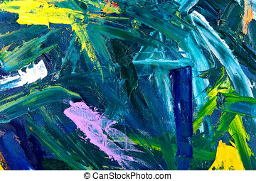 abstract oil painting fragment - Oil on canvas. fragment of...
